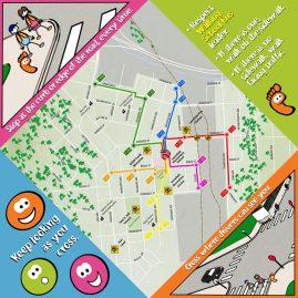 Inside of Walking School Bus map