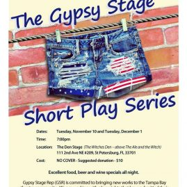 Poster for an event at The Gypsy Stage.