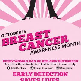 Breast Cancer Awareness Month retractable banner (36 x 88.5)