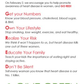 National Wear Red Day rack card